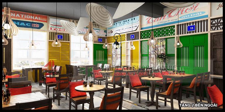 Thiết kế quán cafe 3 tầng hiện đại 180m2 tại Hà Nội 5