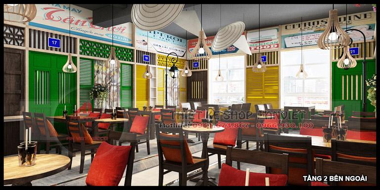 Thiết kế quán cafe 3 tầng hiện đại 180m2 tại Hà Nội 6