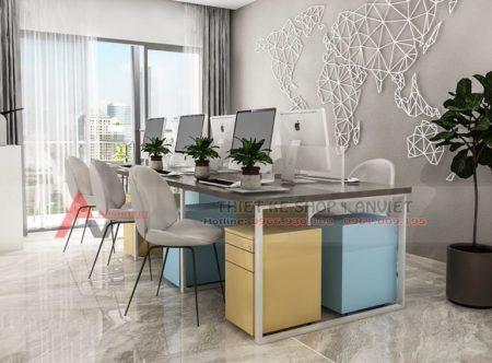 Thiết kế văn phòng chung cư đẹp hiện đại 120m2 tại Hà Nội