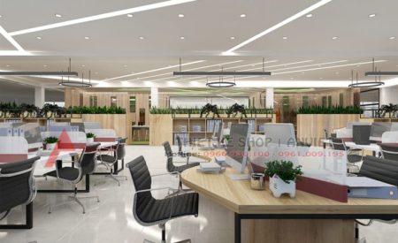 Thiết kế văn phòng công ty hiện đại 500m2 CHUYÊN NGHIỆP