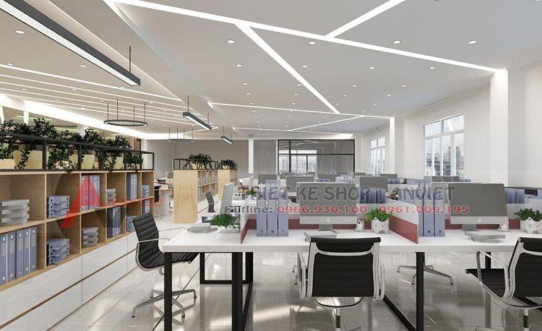 Thiết kế văn phòng công ty hiện đại 500m2 -12