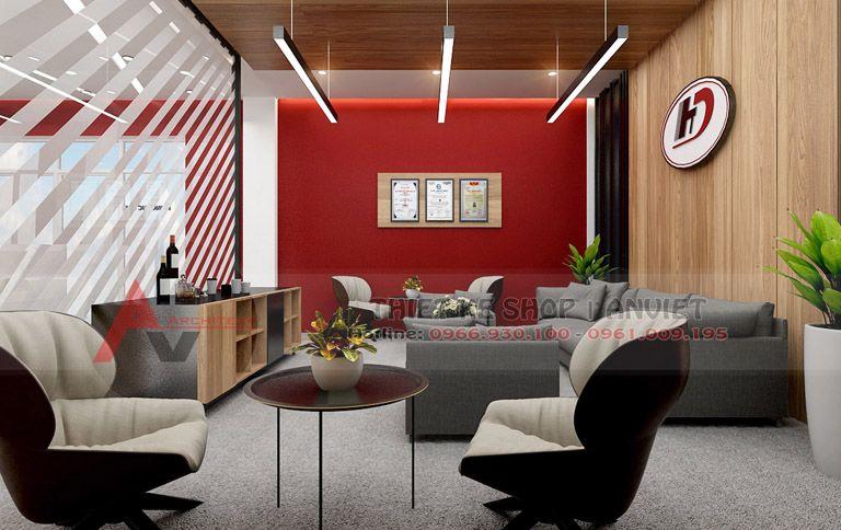 Thiết kế văn phòng công ty hiện đại 500m2
