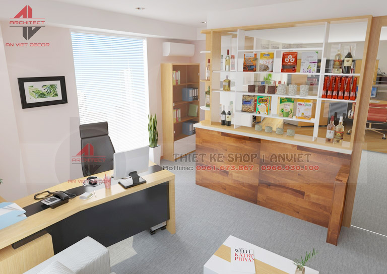 Trang trí nội thất văn phòng nhỏ đẹp 35m2 tại Hà Nội -4
