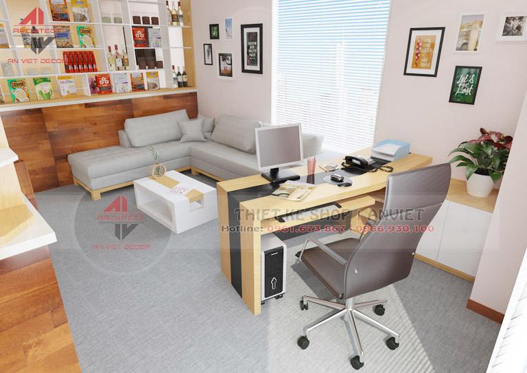 Trang trí nội thất văn phòng nhỏ đẹp 35m2 tại Hà Nội -7