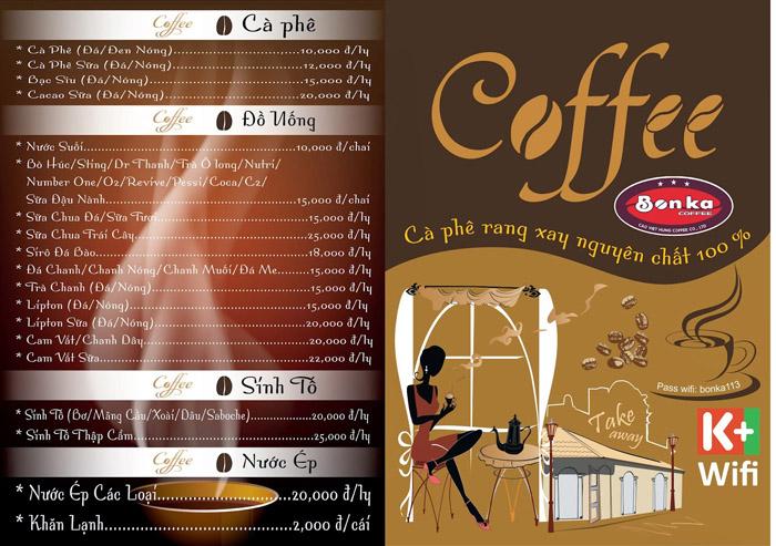 5 Kiểu thiết kế menu cho quán cafe ĐẸP BẮT MẮT - LOẠI MENU GẤP ĐÔI, GẤP BA
