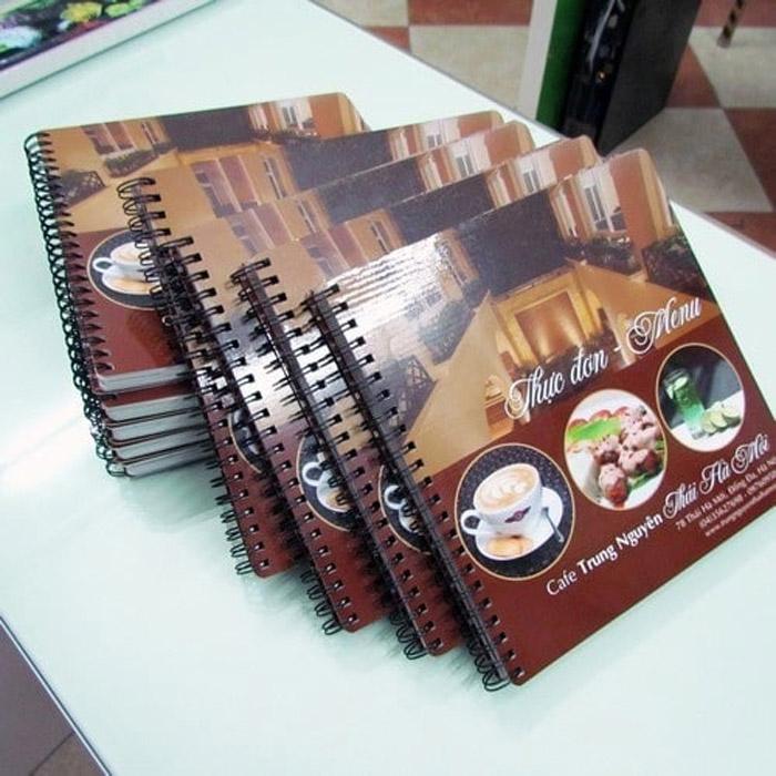 5 Kiểu thiết kế menu cho quán cafe ĐẸP BẮT MẮT - LOẠI MENU ĐÓNG THÀNH TẬP