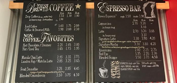 5 Kiểu thiết kế menu cho quán cafe ĐẸP BẮT MẮT - LOẠI MENU DẠNG BẢNG