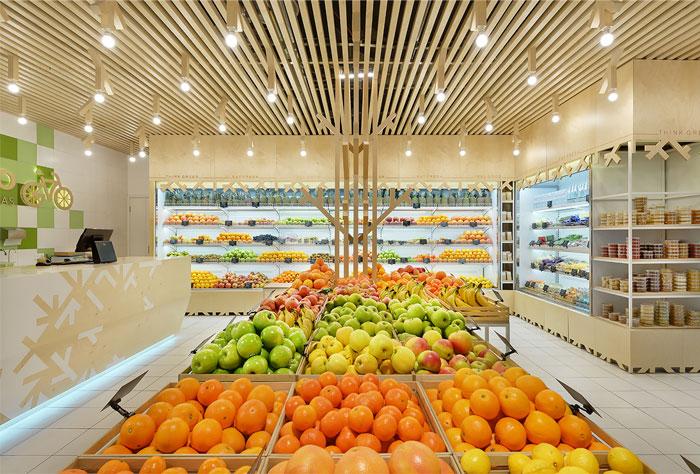 Cách trang trí trưng bày nội thất siêu thị mini hiệu quả 2