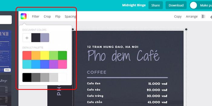 5 Kiểu thiết kế menu cho quán cafe ĐẸP BẮT MẮT - THIẾT KẾ MENU BẰNG CANVA