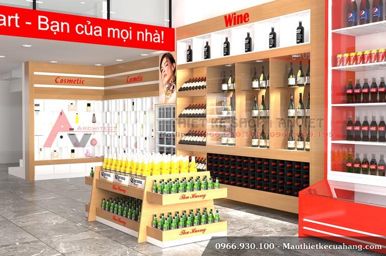Mẫu thiết kế siêu thị đẹp chuyên nghiệp Mini Mart 200m2 2
