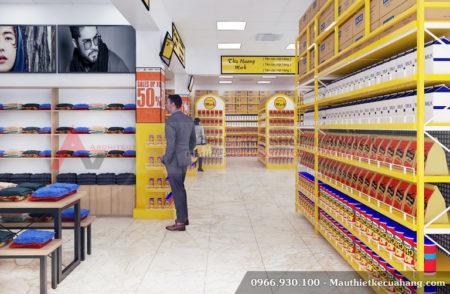 Mẫu thiết kế siêu thị đẹp chuyên nghiệp Mini Mart 200m2