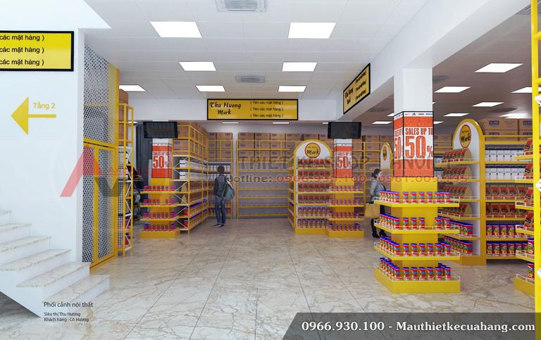Mẫu thiết kế siêu thị đẹp chuyên nghiệp Mini Mart 200m2 5