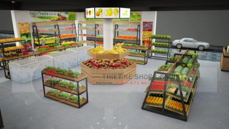 Mẫu thiết kế siêu thị mini bán thực phẩm sạch 60m2 tại Hà Nội