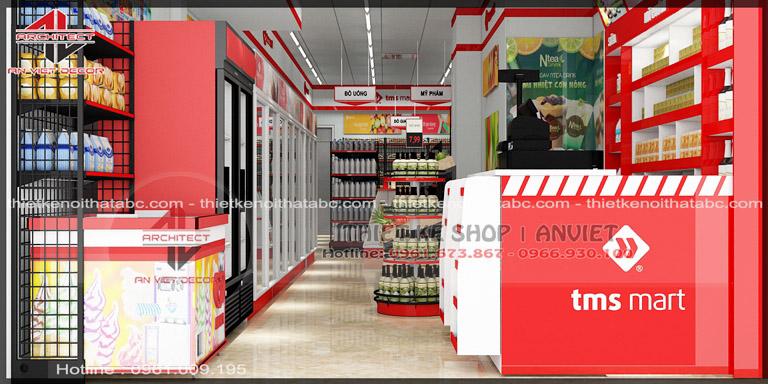 Thiết kế chuỗi TSM siêu thị mini 60m2 nhỏ đẹp tại Vĩnh Yên 1