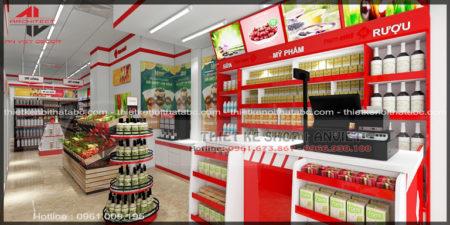 Thiết kế chuỗi TMS siêu thị mini 60m2 nhỏ đẹp tại Vĩnh Yên
