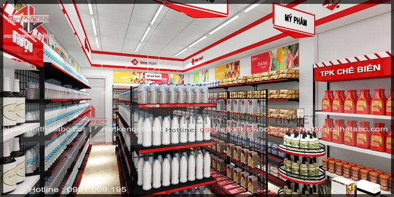 Thiết kế chuỗi TSM siêu thị mini 60m2 nhỏ đẹp tại Vĩnh Yên 3