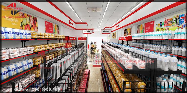 Thiết kế chuỗi TSM siêu thị mini 60m2 nhỏ đẹp tại Vĩnh Yên 5
