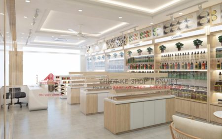 Thiết kế cửa hàng mỹ phẩm chính hãng 80m2 tại Thanh Hóa