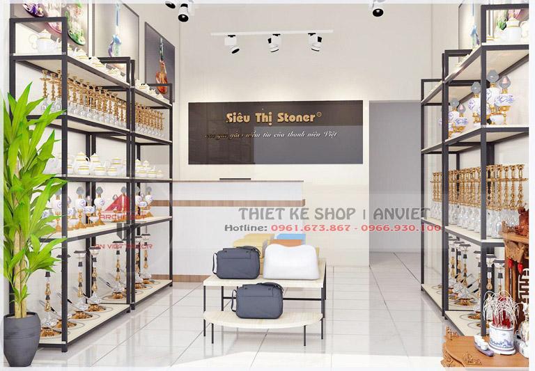 Thiết kế cửa hàng Stoner 30m2 tại Hoàng Mai Hà Nội
