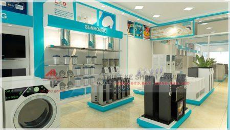 Dự án thiết kế nội thất showroom điện máy 200m2 tại Yên Bái