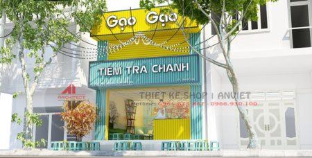 Thiết kế nội thất tiệm trà chanh nhỏ 40m2 HÚT KHÁCH ở HN