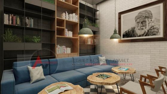 Thiết kế quán cafe sách ấn tượng phong cách hiện đại 250m2 2