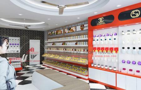 Thiết kế siêu thị mini chuyên kinh doanh đồ nhập khẩu 50m2