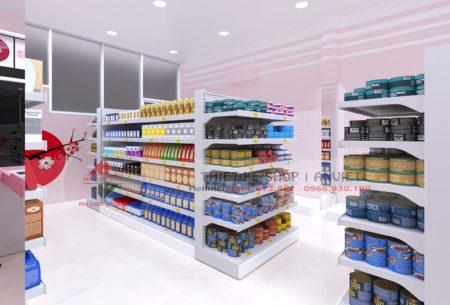Thiết kế siêu thị mini hàng nhật 40m2 ĐƠN GIẢN TIẾT KIỆM