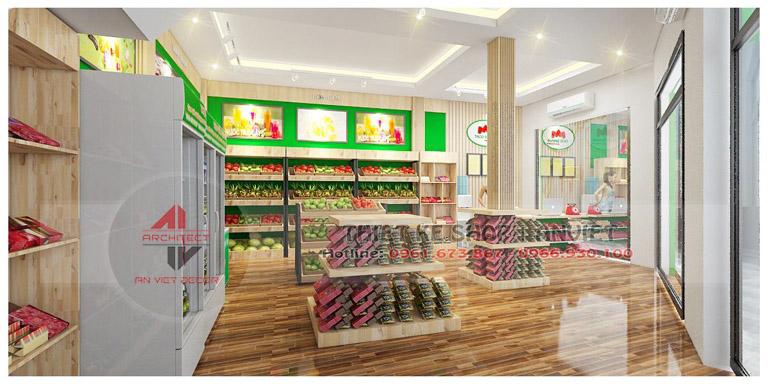 Thiết kế siêu thị mini thực phẩm sạch Thành An 60m2 ở HN 1