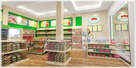 Thiết kế siêu thị mini thực phẩm sạch Thành An 60m2 ở HN