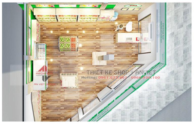 Thiết kế siêu thị mini thực phẩm sạch Thành An 60m2 ở HN 4