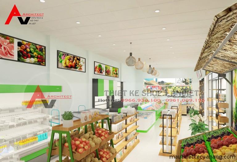 Thiết kế siêu thị minimart 80m2 ĐẸP THU HÚT KHÁCH HÀNG