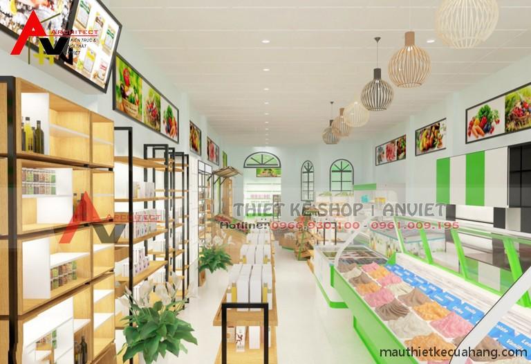 Thiết kế siêu thị minimart 80m2 ĐẸP THU HÚT KHÁCH HÀNG 3