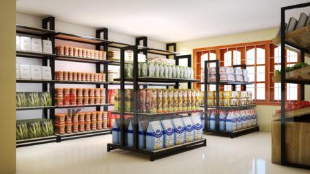 Trang trí nội thất siêu thị tiện ích 300m2 đẹp tại Sơn La