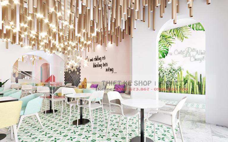 Dự án thiết kế quán trà sữa ĐỘC ĐÁO THU HÚT KHÁCH HÀNG