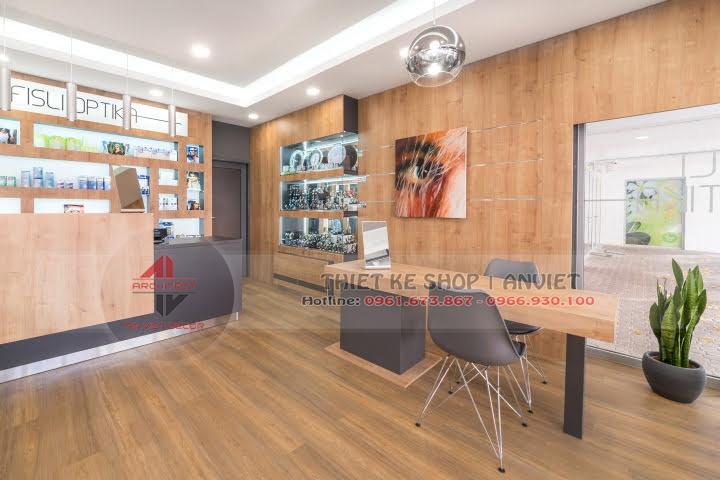 Dự án thiết kế showroom kính mắt hàng hiệu 60m2 3