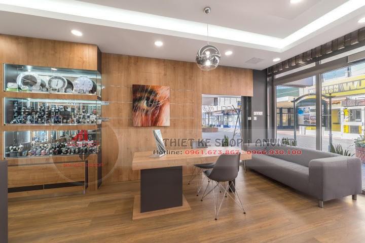 Dự án thiết kế showroom kính mắt hàng hiệu 60m2 5