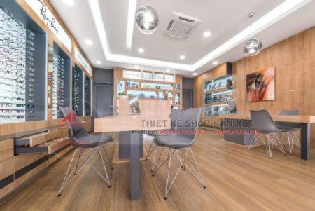 Dự án thiết kế showroom kính mắt hàng hiệu 60m2