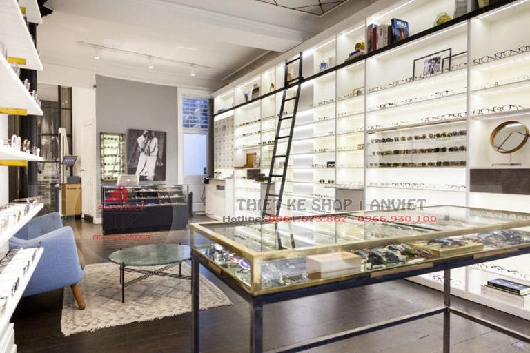 Mẫu thiết kế cửa hàng kính mắt sang trọng 50m2 1