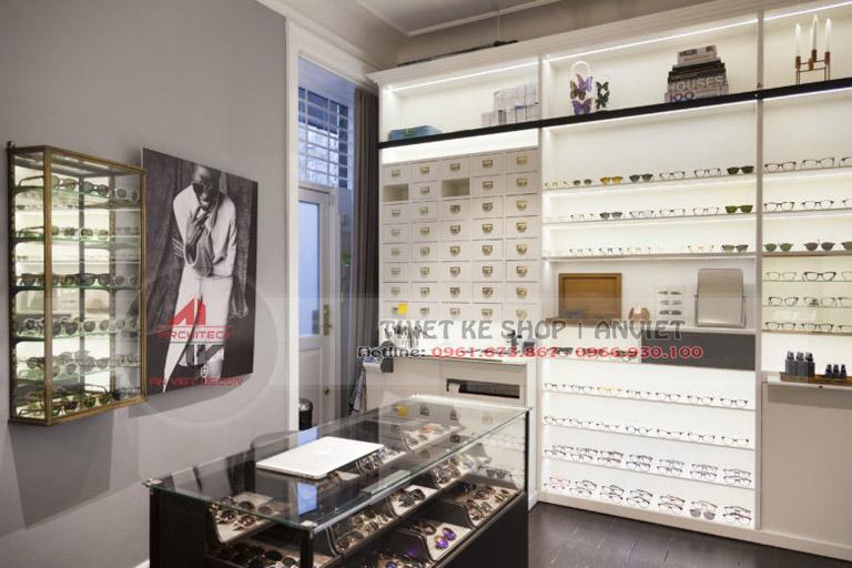 Mẫu thiết kế cửa hàng kính mắt sang trọng 50m2 2