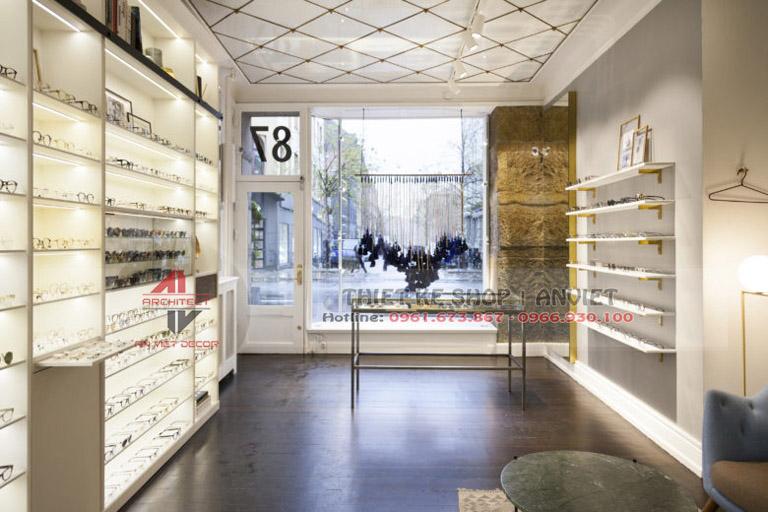 Mẫu thiết kế cửa hàng kính mắt sang trọng 50m2 5