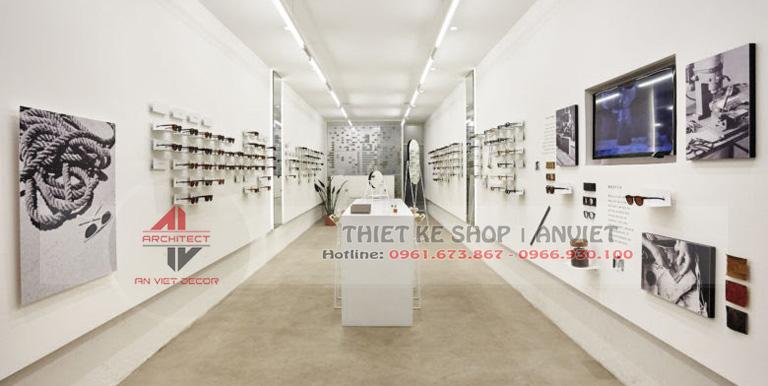 Mẫu thiết kế cửa hàng kính mắt thời trang hiện đại 40m2 2