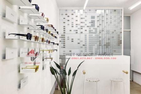 Mẫu thiết kế cửa hàng kính mắt thời trang hiện đại 40m2