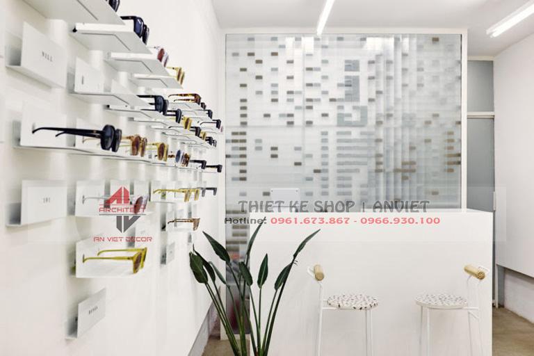 Mẫu thiết kế cửa hàng kính mắt thời trang hiện đại 40m2 3