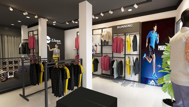 Mẫu thiết kế cửa hàng thời trang nam đẹp hiện đại 40m2