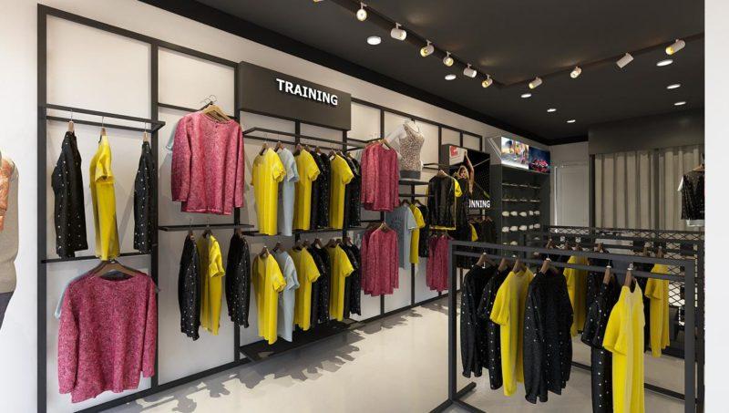 Mẫu thiết kế cửa hàng thời trang nam đẹp hiện đại 40m2 3