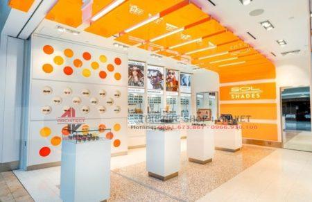 Thiết kế nội thất showroom kính mắt chuyên nghiệp 80m2