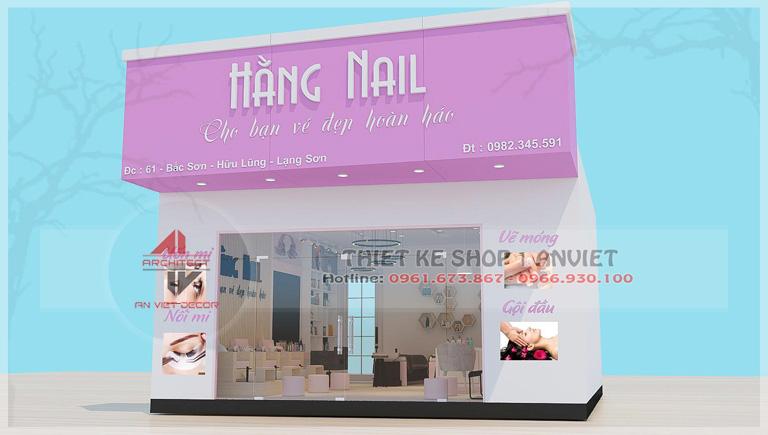 Mẫu thiết kế nội thất tiệm nail 50m2 ở Lạng Sơn -1