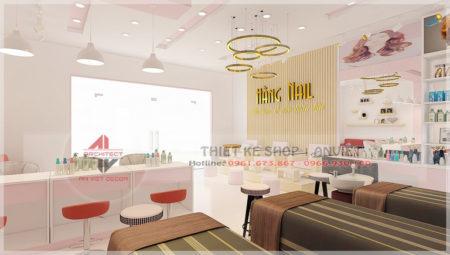 Mẫu thiết kế nội thất tiệm nail 50m2 ở Lạng Sơn