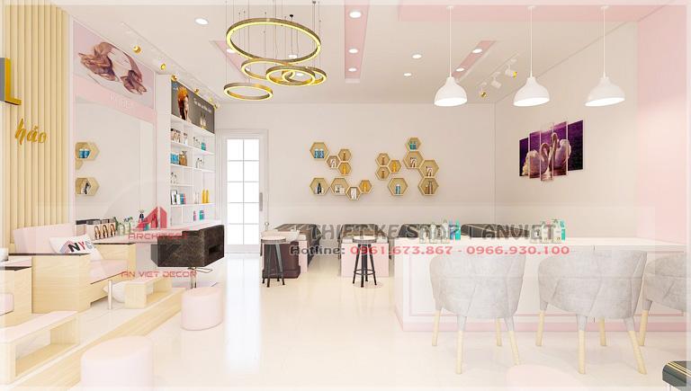 Mẫu thiết kế nội thất tiệm nail 50m2 ở Lạng Sơn 3